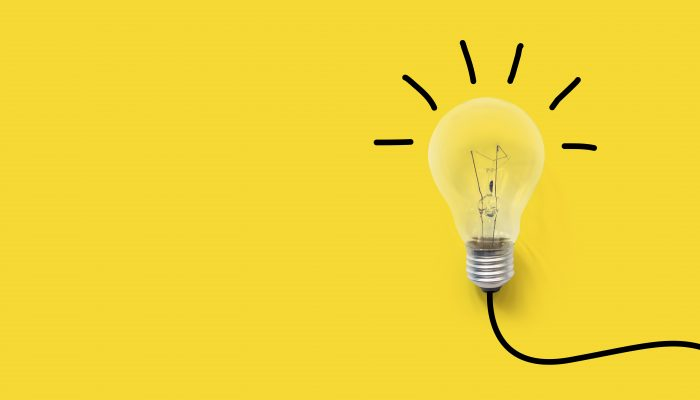 picture of a light bulb. symbolizes promising ideas for new tech products