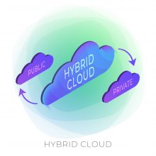 image depicting hybrid cloud - on-premises and cloud data center