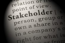picture of the text of the word stakeholder